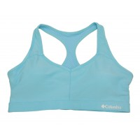Columbia Women's Omni Tech Racer-Back Bra - High Support 1 Pack, Clear Blue, X-Large