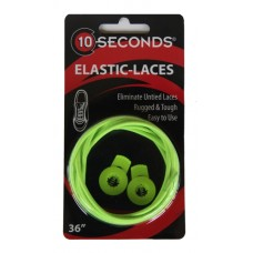 Ten Seconds Elastic Laces, Neon Yellow