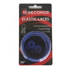 Ten Seconds Elastic Laces, Royal Blue