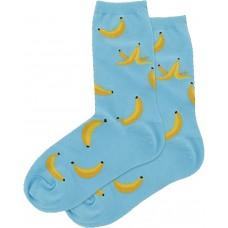 HotSox Banana Socks, Aqua, 1 Pair, Women Shoe 4-10