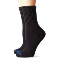Medipeds Unisex Diabetic Quarter Socks with Non-Binding Funnel Top 2 Pairs, Black, Women's 10-13 / Men's 9-12