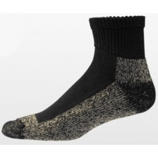 Aetrex Copper Sole Socks, Non-Binding Cushion, Ankle, Black