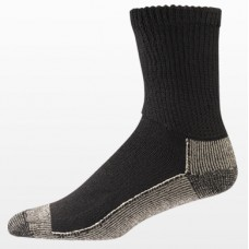 Aetrex Copper Sole Socks, Non-Binding, Crew, Black