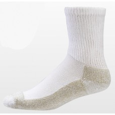 Aetrex Copper Sole Socks, Non-Binding, Crew, White