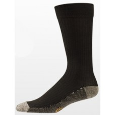 3-Pack Aetrex Copper Sole Socks, Mens Dress/Casual, Crew, Brown
