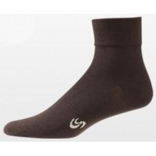 Aetrex Copper Sole Socks, Womens Dress/Casual, Crew, Brown