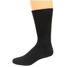 Carolina Ultimate Diabetic Non-Binding Crew Socks 2 Pair, Black, Men's 10-13