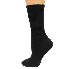 Carolina Ultimate Diabetic Non-Binding Tube Crew Socks 2 Pair, Black, Women's 6-9