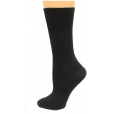 Carolina Ultimate Diabetic Non-Binding Crew Socks 2 Pair, Black, Women's 6-9