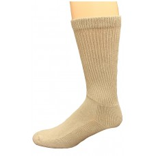 Carolina Ultimate Diabetic Non-Binding Crew Socks 2 Pair, Khaki, Men's 9-13