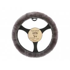 Cloud Nine Sheep Skin Steering Wheel Cover, Steel