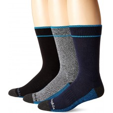 Columbia Cotton Crew - Arch/Ankle Support, Mesh Vent, 3 Pair, M10-13,  Navy