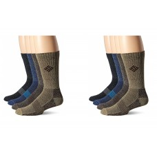 Columbia Basic Thermal w/ Mesh and Arch Support Socks, Multi Assorted, M 10-13, 4 Pair