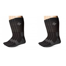 Columbia Basic Thermal w/ Mesh & Arch Support, Black, Men 6-12, 4 Pair
