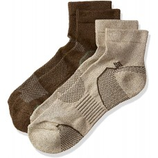 Columbia Balance Point Quarter Sport Sock 2 Pair, M10-13, Khaki-Brown