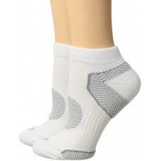Columbia Balance Point Sport Low Cut Sock 3 Pair, W9-11, White