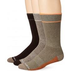 Columbia Cotton Crew - Arch/Ankle Support, Mesh Vent, Peatmoss, Men 6-12, 3 Pair