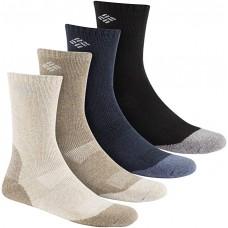 Columbia Basic Wool 4 pk Socks, Multi asst, M 10-13 Men Shoe Size 6-12, 4 Pair
