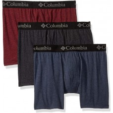 Columbia Men's Performance Cotton Stretch Boxer Brief-3 Pack, New Port/India/Black, Medium