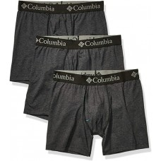 Columbia Men's Performance Cotton Stretch Boxer Brief-3 Pack, New Black, Large