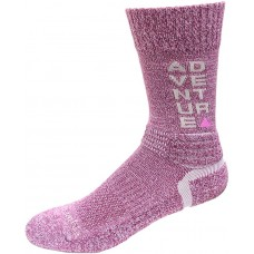 Columbia Adventure Hike Crew Lightweight Socks, Wild Iris, Small Women Shoe Size 4-7.5, 1 Pair