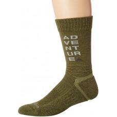 Columbia Adventure Hike Crew Lightweight Socks, Nori, Medium Shoe Size Men 6-9 / Women 8-11.5, 1 Pair