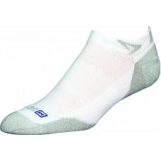 Drymax Sport Unisex Running Lite Mesh Mini Crew 1 Pair, White/Gray Socks