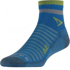 Drymax HAWKS Hot Weather Running 1/4 Crew,  Sky Blue/Sublime/Gray