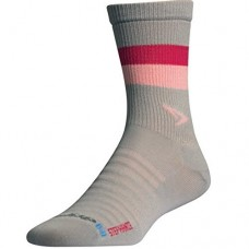 Drymax Hyper Thin Running Crew Socks Stephanie - Anthracite / Light Pink / October Pink