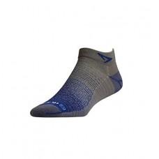 Drymax Thin Run Mini Crew Socks Royal / Anthracite