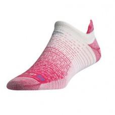 Drymax Thin Running No Show Tab,  October Pink/White