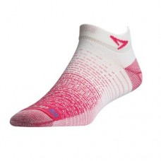 Drymax Thin Running Mini Crew,  October Pink / White