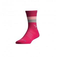 Drymax Thin Running Crew,  Sunburst October Pink/White
