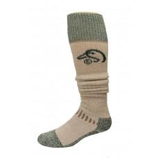 Ducks Unlimited Wool Blend Wader Socks, 1 Pair, Tan/Green, Large, W 9-12 / M 9-13