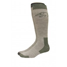 Ducks Unlimited Full Cushion Wool Blend Socks, 2 Pair, Olive/Black, Large, W 9-12 / M 9-13