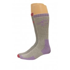 Ducks Unlimited Ladies Full Cushion Wool Blend Socks, 2 Pair, Lilac/Fuschia, Medium, W 6-9 / M 4-9