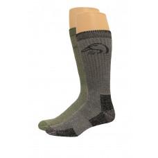 Ducks Unlimited Full Cushion Wool Blend Socks, 4 Pair, Black/Olive, Large, W 9-12 / M 9-13