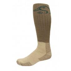 Ducks Unlimited Heavy Tall Merino Wool Boot Socks, 1 Pair, Nat/Mocha, X-Large, M 12-16