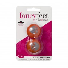 Fancy Feet Sneaker Deodorizers, 2 Pack, Orange