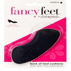 Fancy Feet Back of Heel Cushions, 1 Pair, Black