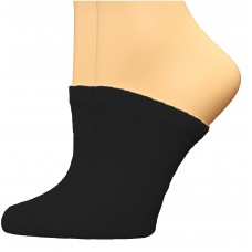 FeetPeople Premium Clog Socks 2 Pair, Black