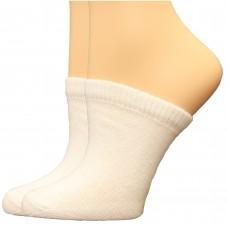 FeetPeople Premium Clog Socks 2 Pair, White
