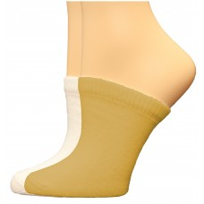FeetPeople Premium Clog Socks 2 Pair, Nude/White