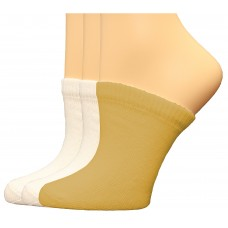 FeetPeople Premium Clog Socks 3 Pair, White/White/Nude