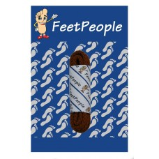 FeetPeople Brogue Casual Dress Laces, Brick