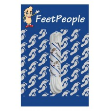 FeetPeople Round Dress Laces, White