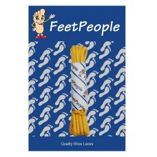 FeetPeople Waxed Round Dress Laces, Gold