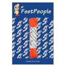 FeetPeople Waxed Round Dress Laces, Neon Orange