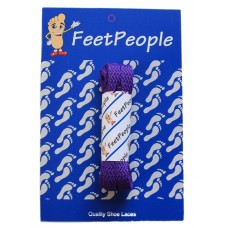 FeetPeople Flat Laces For Boots And Shoes, Purple