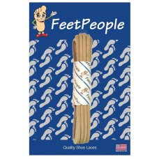 FeetPeople Leather Shoe/Boot Laces, New Tan